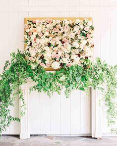 vintage wedding decor Wedding Inspiration - Style Me Pretty Wedding Ceremony Ideas, Ceremony Backdrop, Wedding Trends, Backdrop Ideas, Wedding Arches, Wedding Backdrops, Party Backdrops, Floral Backdrop, 2017 Wedding