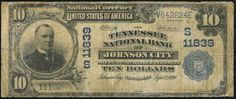 1902 Bank Note from Tennessee National Bank in Johnson City #appalachia