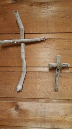 Driftwood crosses, wooden crosses, wooden crosses