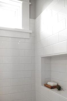Upstairs Bathrooms, Laundry In Bathroom, Basement Bathroom, White Bathroom, Paint Bathroom, Small Bathrooms, Bathroom Mold, Cream Bathroom, White Shower