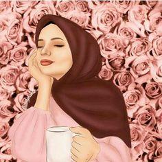 Hijabi Girl, Girl Hijab, Hijab Dp, Girl Cartoon, Cute Cartoon, Tmblr Girl, Hijab Drawing, Beautiful Girl Drawing, Anime Muslim