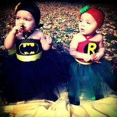 Kids Halloween Costumes: Batman and Robin in Tutus