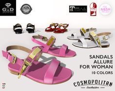 Exclusive for Cosmopolitan for WOMAN FatPack 10 colors http://maps.secondlife.com/secondlife/No%20Comment/130/28/23