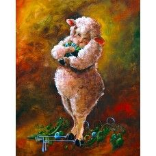 This has always been one of my favorites of Conni Togel of Sheep Incognito's paintings :-)  Embrace World Peas PRINT