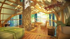 Love this Sailboat-inspired prefab treehouse villa hangs from the trees : TreeHugger