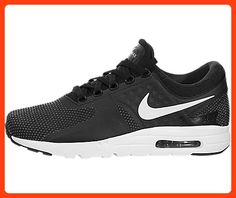 0542b2e81ed Nike Men s Air Max Zero Essential Black White Dark Grey Running Shoe 13 Men  US