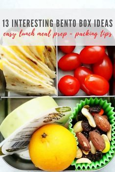 In a lunch rut? Here are 13 fun and interesting bento box lunch ideas. These healthy options are great for kids, teens or adults. All recipes easily customizable, save for when you need lunch inspiration! Healthy Meals For Kids, Healthy Options, Lunch Recipes, Healthy Recipes, Healthy Food, Mediterranean Breakfast, Make Ahead Lunches, Lunch Meal Prep, Bento Box Lunch
