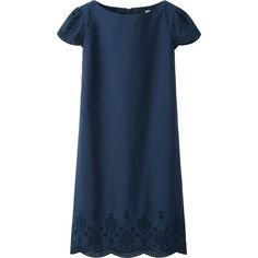 navy embroidered dress \\ uniqlo