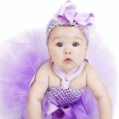 Omg Emma is so little in this pic. Spring Glamour Baby Lavender Polka Tutu Dress