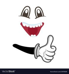 Happy smiley face with thumb up gesture Royalty Free Vector Funny Facial Expressions, Happy Smiley Face, Naughty Emoji, Vector Free, Vector Stock, Logo Design, Graphic Design, Cartoon Faces, Cute Comics