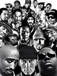Black and White hip hop rap white black dr dre eminem biggie old school Ice Cube jayz Tupac the game Legends Big Pun dmx snoop dog dj premier snoop lion xibit Hip Hop And R&b, Love N Hip Hop, Hip Hop Rap, Eminem, Arte Black, Black Art, Hip Hop Artists, Music Artists, Arte Do Hip Hop