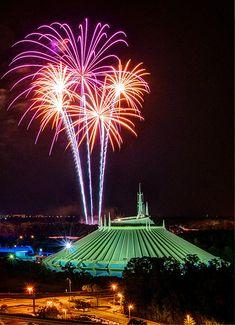 Space Mountain Fireworks