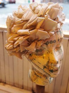 Vintage Schiaparelli Paris ribbon hat.