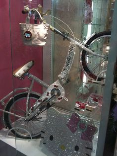 Hello Kitty bike -- blinged out in crystals! at Sanrioworld     OMG   shut the front door