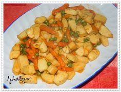 Tiras de Pota Estufadas com Legumes | Cooking Recipes by Apok@lypsus