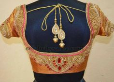 Sequins Latest Blouses in Silk Fabric South Indian Blouse Designs, Bridal Blouse Designs, Saree Blouse Patterns, Saree Blouse Designs, Blouse And Skirt, Sari Blouse, Choli Designs, Desi Clothes, Saree Styles