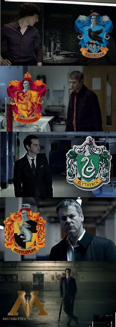 Sherlock characters and their respective Hogwarts houses!