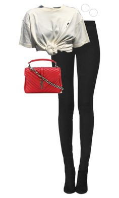 """Untitled #13737"" by alexsrogers ❤ liked on Polyvore featuring Tamara Mellon, Yves Saint Laurent and Miss Selfridge"