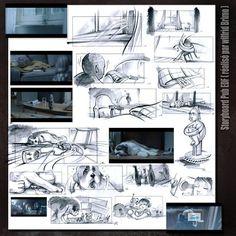 Storyboard Pub EDF ( réalisé par Wilfrid Brimo- dessins Eric gandois )