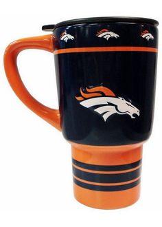 NFL 15oz Sculpted Travel Mug - Denver Broncos