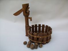 Very Vintage Wooden Nut Cracker with Bowl by Gem2thei on Etsy, $22.00