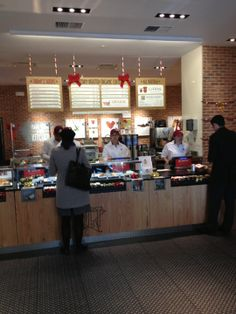 Pret A Manger Soups, sandwiches, wraps, vegetarian options. SP likes this