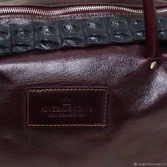 c7fa84567caa Женские сумки ручной работы. Сумка Vintage Bordo Croco и браслет. AD's  design Sergy.
