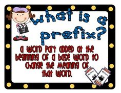 Use these mini posters as a perfect addition to your Hollywood classroom and a great way to teach word parts.  Each prefix and suffix poster comes ...