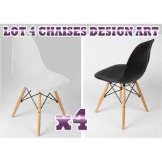 Lot de 4 chaises Design ART Blanches super qualité - Achat / Vente chaise Blanc - Cdiscount
