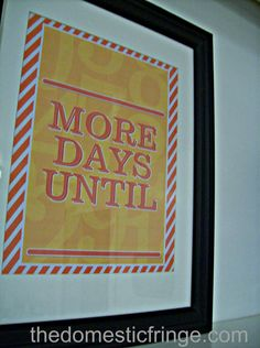 DIY Teacher Gift Printable - Dry Erase Countdown Board