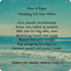Rebuilding Life from Within