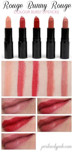 The New Repackaged and Reformulated Rouge Bunny Rouge Colour Burst Lipsticks Lipstick Art, Lipstick Swatches, Lipsticks, Neutral Makeup, Red Makeup, The Rouge, Smokey Eye Tutorial, Hair Again, Body Powder
