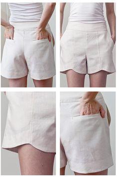 PatternRunway 1102 Scalloped Hem Shorts Downloadable Pattern