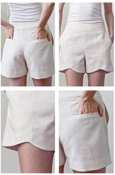 PatternRunway 1102 Scalloped Hem Shorts Downloadable Pattern