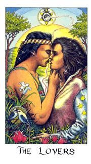 View the The Lovers in the Cosmic deck on Tarot.com