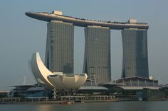 Marina Bay Sands Hotel, taken from the Espanade