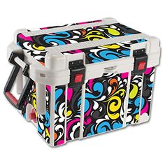 MightySkins Protective Vinyl Skin Decal for Pelican 35 qt Cooler wrap cover sticker skins Swirly *** Click on the image for additional details.(This is an Amazon affiliate link)