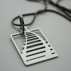 Railroad Necklace, $45, now featured on Fab.