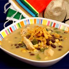 """Cheesy Chicken Poblano Chowder 
