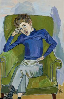 Alice Neel, Portrait of David Brody, 1968  Art Experience NYC  www.artexperiencenyc.com