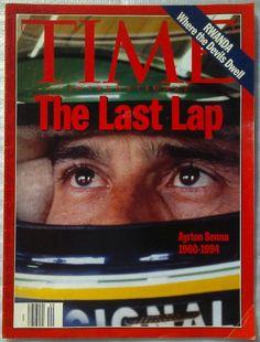 """Time, edição de 16 de maio de 1994.  """"The Last lap - Ayrton Senna (1960-1994)"""""""