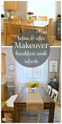 Gentil Breakfast Nook Makeover Before And After