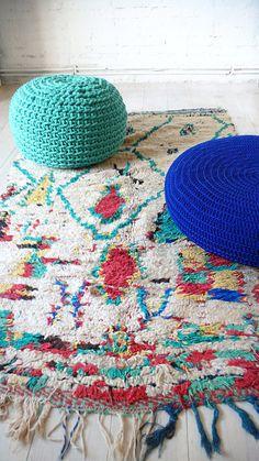 Vintage Moroccan Wool Rug AZILAL diamond por lacasadecoto.