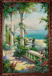 В цветущем саду - Средиземноморье <- Картины маслом <- Картины - Каталог | Универсальный интернет-магазин подарков и сувениров