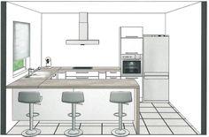 Kitchen design, kitchen layout, home decor kitchen, home kitchens, coffee b Kitchen Room Design, Kitchen Sets, Home Decor Kitchen, Interior Design Living Room, Home Kitchens, Kitchen Layout Plans, Küchen Design, Kitchen Remodel, New York