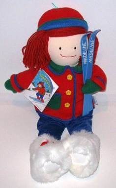 """Amazon.com: MADELINE Collectible 19"""" Plush 1997 Doll (""""ALPINE MADELINE"""" NEW!!!!): Toys & Games"""