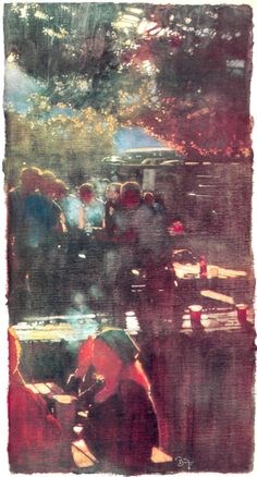 Bernie Fuchs painting for Sports Illustrated, Sept. Fuchs Illustration, Magazine Illustration, Impressionist Landscape, Impressionism, Nocturne, Portraits, Guache, Classic Paintings, Landscape Artwork