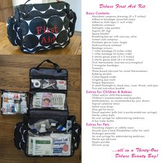 The ultimate first aid kit in a Thirty-One Deluxe Beauty Bag.  www.mythirtyone.oom/TamelaSutler