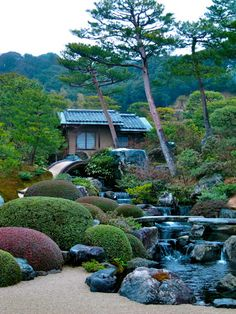 Japanese garden in Shimane, Japan