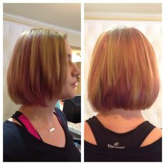 Pink low lights by Gina at Style Masters Malvern